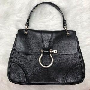 Burberry classic flap bag leather satchel purse